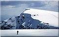 NN1973 : A skier on Aonach Mor by Walter Baxter