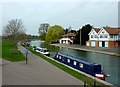 TL4559 : The River Cam by Midsummer Common, Cambridge by Roger  Kidd
