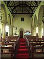 NY9371 : St. Giles Church, Chollerton - nave (2) by Mike Quinn