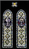 NY9371 : St. Giles Church, Chollerton - stained glass window by Mike Quinn