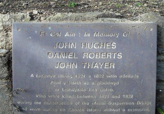Commemorative plaque, Church Island