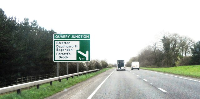 Approaching Quarry Junction on the A417