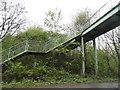 TQ1757 : Footbridge over the A243, Leatherhead by David Howard