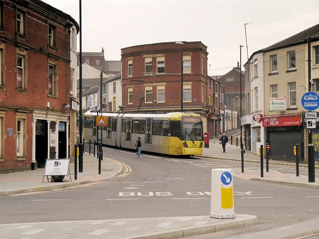 Metrolink Tram on Drake Street