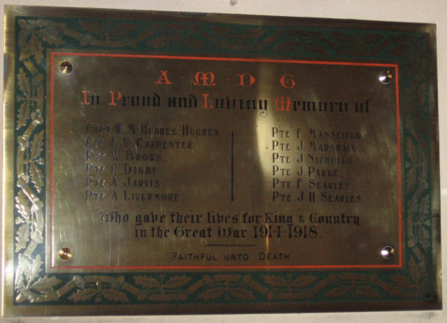 War Memorial, St John the Evangelist Church, Little Leighs, Essex