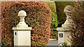 J4079 : Ornamental gate pillars, Holywood by Albert Bridge
