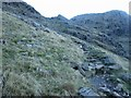 NY2407 : Footpath ascending towards Angle Tarn by Graham Robson