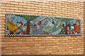 TQ2785 : Mosaic Murals in the Russell Nurseries Estate (3) by Kate Jewell