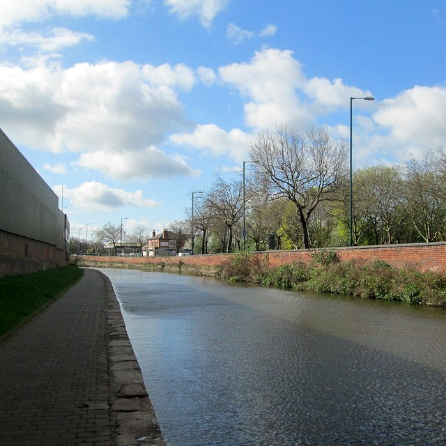 A stiff breeze on the Nottingham Canal