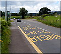 SO3104 : Bilingual bus stop in rural Monmouthshire by Jaggery