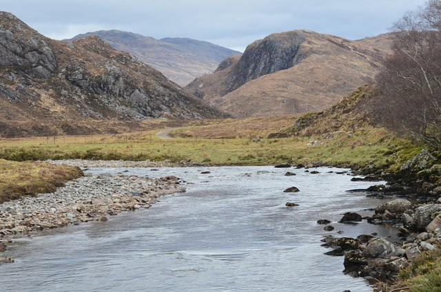 River Ling and Creag a' Ghallain