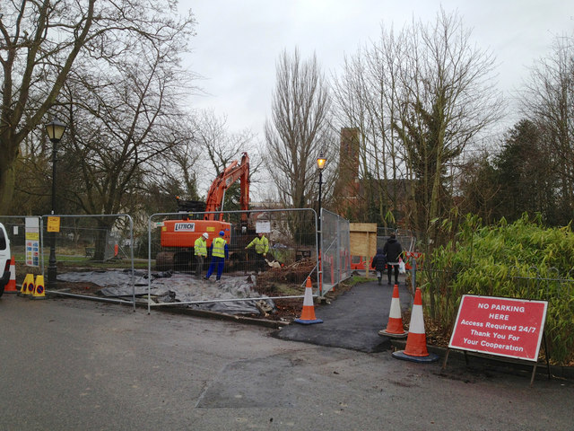 South Leamington sewer replacement works starting, York Promenade, Leamington
