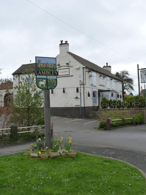 Lambley village sign