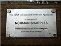SD5378 : Memorial plaque, Holme Park Quarry by Karl and Ali