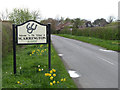 SK7341 : Scarrington village sign by Alan Murray-Rust