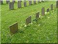 SK7439 : Slate headstones, Whatton churchyard by Alan Murray-Rust