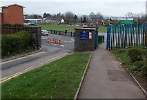 ST2896 : Entrance to Pontnewydd Primary School, Cwmbran by Jaggery