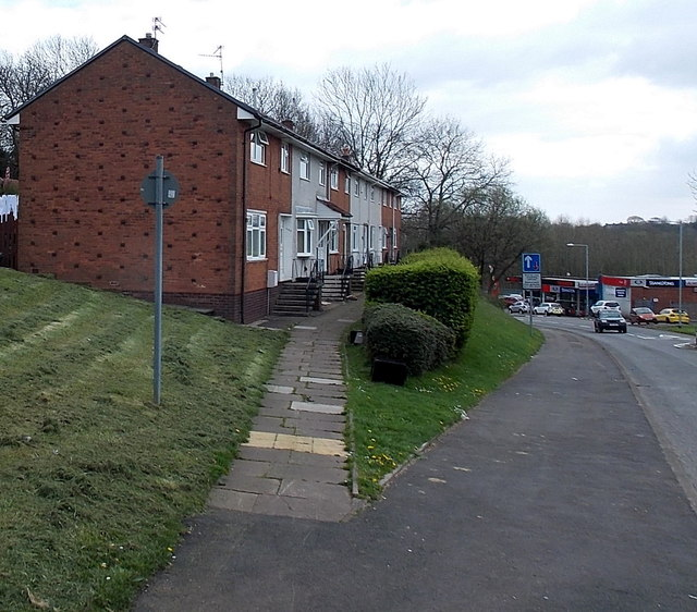Path to a row of Maendy Way houses, Cwmbran