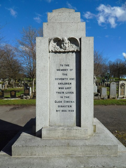 Memorial for victims of the Glen Cinema Disaster