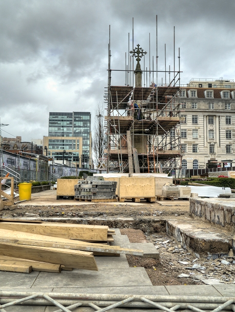 Redeveloping St Peter's Square, St Peter's Cross (April 2014)