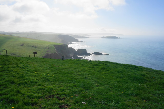 Looking back on the coastal path