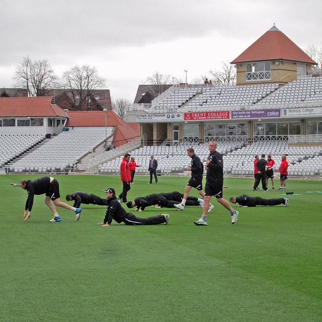 Trent Bridge: pre-match warm-up