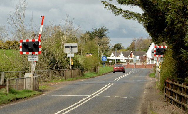 Cullybackey South level crossing (April 2014)