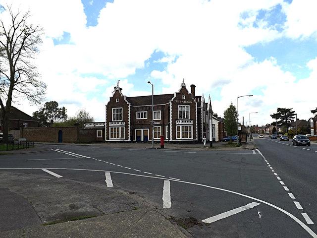 Felixstowe Road & The Crown Public House