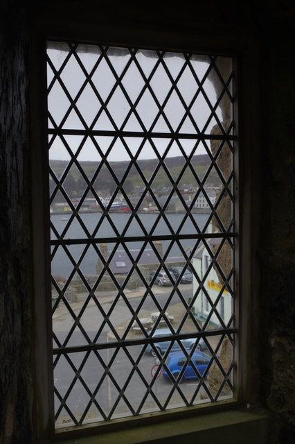 Looking out of Scalloway Castle