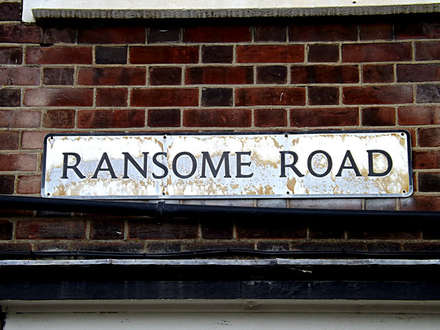 Ransome Road sign