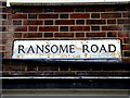 TM1843 : Ransome Road sign by Adrian Cable