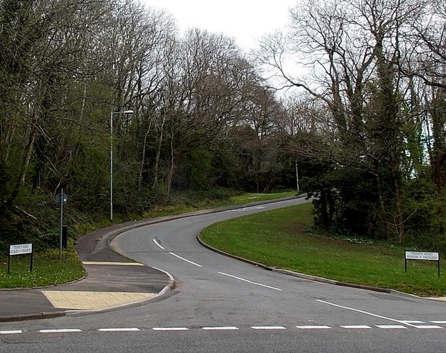 Southern end of Trinity Road, Cwmbran