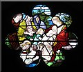 NY8777 : St. Giles Church, Birtley - rose window by Mike Quinn