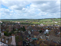 TQ9220 : St Mary Rye: view from the rooftop (v) by Basher Eyre