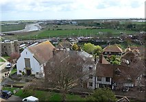 TQ9220 : St Mary, Rye: view from the rooftops (ix) by Basher Eyre