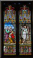 TQ4010 : Stained glass window, St Anne's church, Lewes by Julian P Guffogg