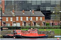 J3473 : Beaver boats, River Lagan, Belfast by Albert Bridge