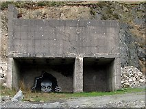 J0324 : Mural in an abandoned crusher at Camlough Granite Quarry by Eric Jones