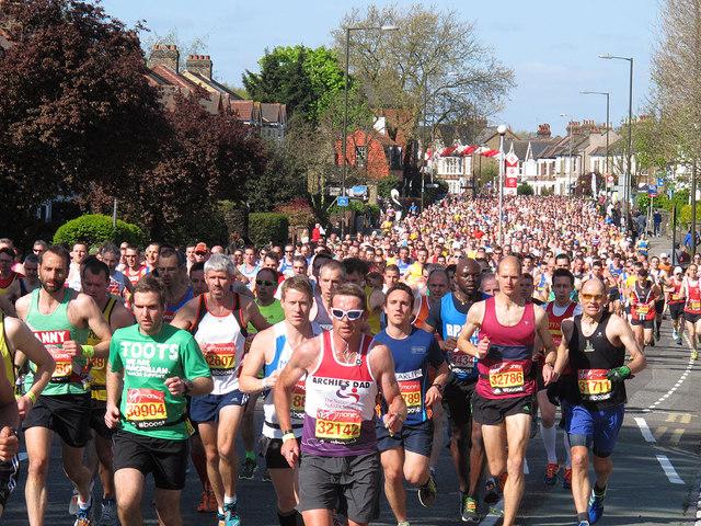 London Marathon 2014: mass participation