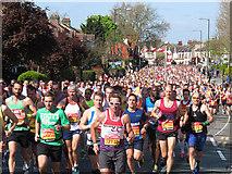TQ4077 : London Marathon 2014: mass participation by Stephen Craven