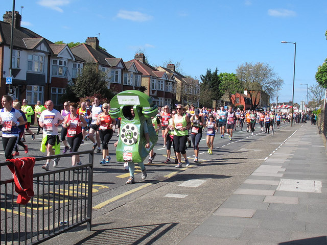 London Marathon 2014: mobile phone