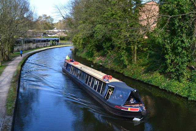 Trip boat on the Worcester and Birmingham Canal