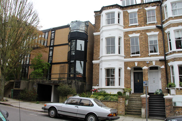 Two periods of architecture on South Hill Park, NW3