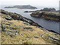 HU6872 : Hevda Skerries from near Vogans Point by Julian Paren