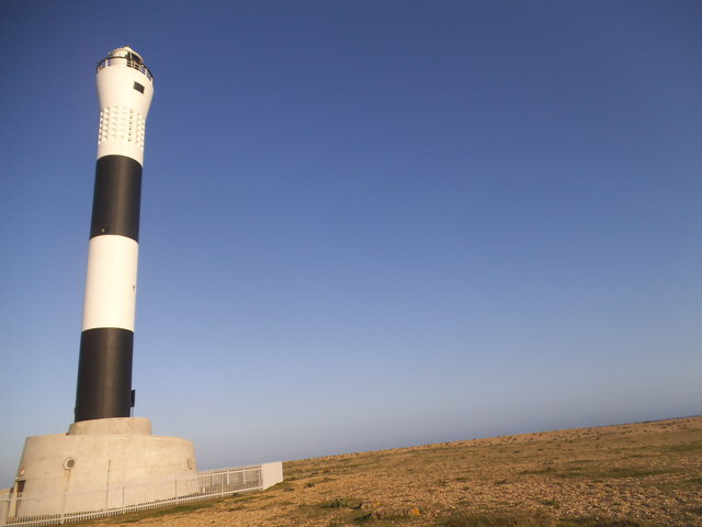 The beach by Dungeness lighthouse