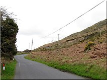 J0324 : Approaching Camlough Quarry along Keggall Road by Eric Jones
