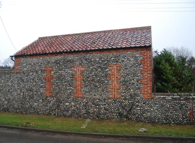 A flint barn