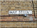 TQ7066 : Vintage street nameplate, May Street, Cuxton by Chris Whippet