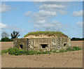 TM3996 : WW2 pillbox in field by Evelyn Simak