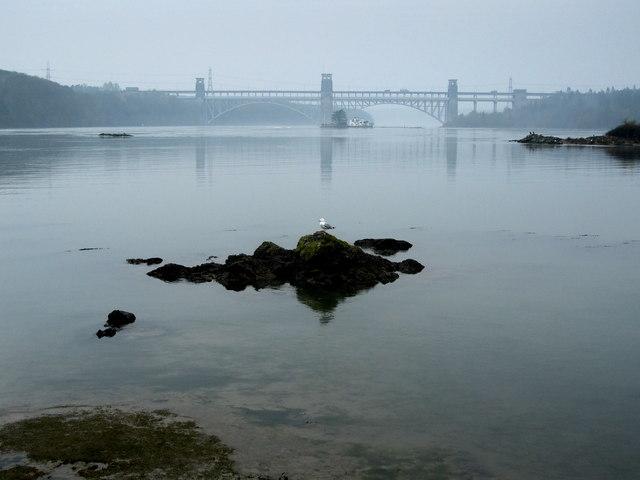 Menai Straits from Church Island